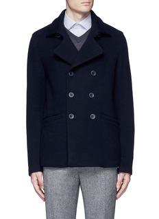 Armani CollezioniWool blend flannel peacoat