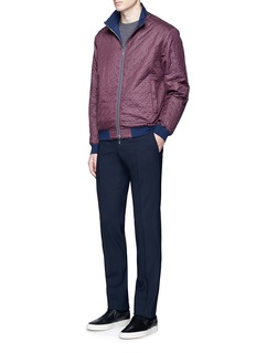 Armani CollezioniReversible quilted blouson jacket