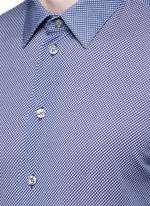 Diamond print cotton shirt