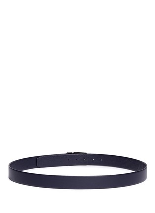Back View - Click To Enlarge - Armani Collezioni - Metal plate leather belt