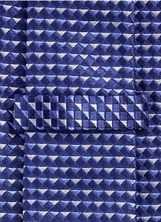 Detail View - Click To Enlarge - Armani Collezioni - Diamond jacquard tie