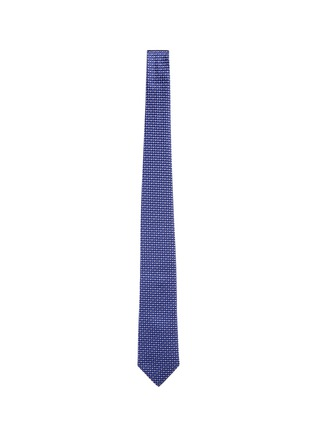 Main View - Click To Enlarge - Armani Collezioni - Diamond jacquard tie