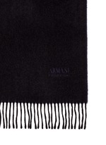 Embroidered logo cashmere scarf