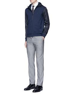 Armani CollezioniTech fabric sleeve and hood blouson jacket