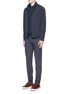 Armani CollezioniVelvet collar slim fit polo shirt