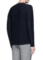 Pinstripe cashmere sweater