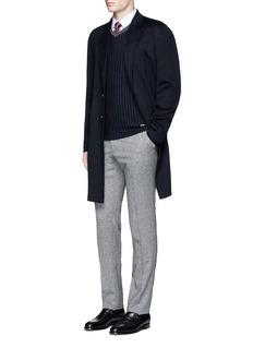 Armani CollezioniPinstripe cashmere sweater