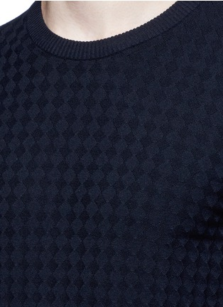 Detail View - Click To Enlarge - Armani Collezioni - Geometric jacquard sweater