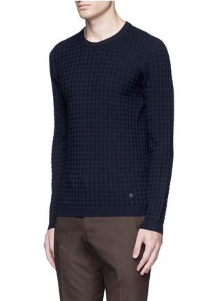 Front View - Click To Enlarge - Armani Collezioni - Geometric jacquard sweater