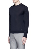 Wool crew neck sweater