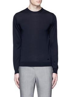 Armani CollezioniWool crew neck sweater