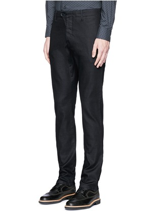 Front View - Click To Enlarge - Armani Collezioni - Straight leg denim pants
