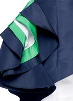 'O'Keefe' asymmetric ruffle one-shoulder silk faille top