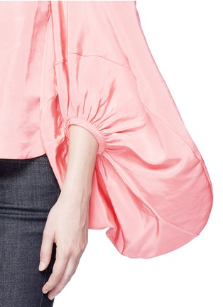 Detail View - Click To Enlarge - Rosie Assoulin - Balloon sleeve silk faille off-shoulder top