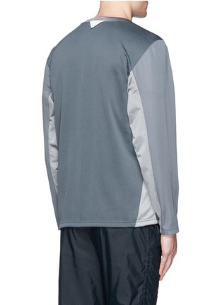 Back View - Click To Enlarge - Adidas By White Mountaineering - Patchwork jersey jacket