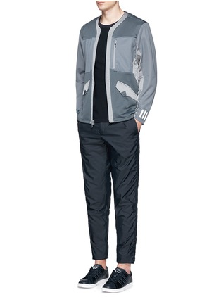 Figure View - Click To Enlarge - Adidas By White Mountaineering - Patchwork jersey jacket
