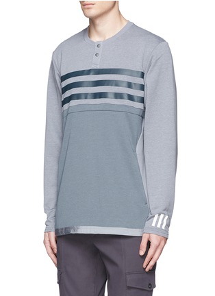 Front View - Click To Enlarge - Adidas By White Mountaineering - Patchwork Henley shirt