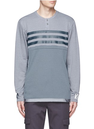 Main View - Click To Enlarge - Adidas By White Mountaineering - Patchwork Henley shirt