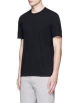 Crew neck cotton slub jersey T-shirt