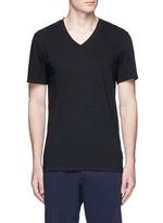 V-neck cotton slub jersey T-shirt