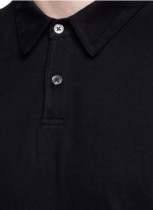 Detail View - Click To Enlarge - James Perse - Sueded Supima® cotton jersey polo shirt