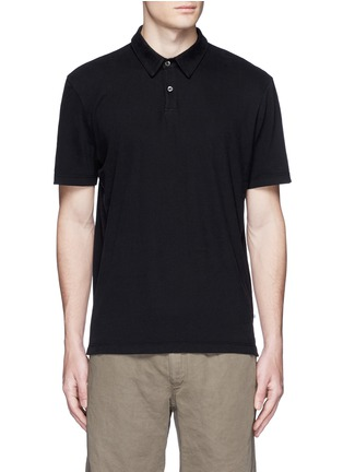 Main View - Click To Enlarge - James Perse - Sueded Supima® cotton jersey polo shirt
