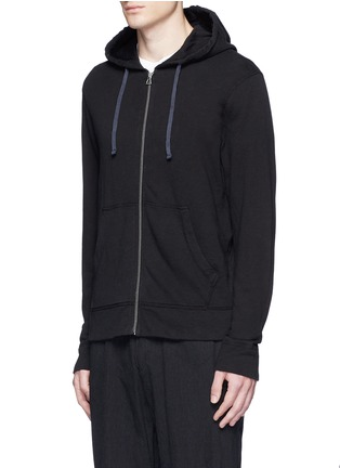 Front View - Click To Enlarge - James Perse - Vintage fleece zip hoodie