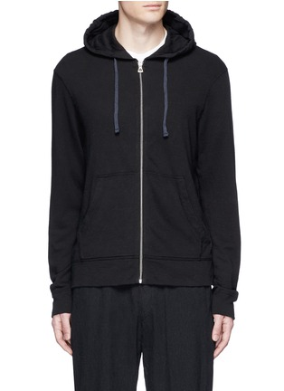 Main View - Click To Enlarge - James Perse - Vintage fleece zip hoodie