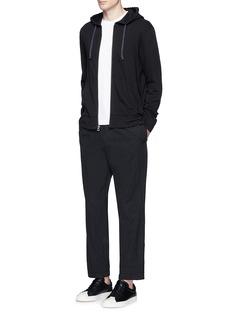 James PerseVintage fleece zip hoodie