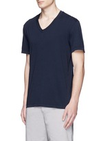 V-neck cotton slub jersey T-shirt