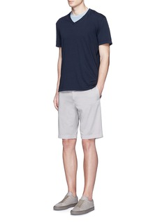James Perse V-neck cotton slub jersey T-shirt