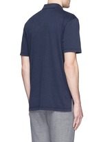 Sueded Supima® cotton jersey polo shirt
