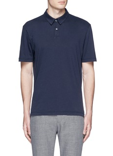 James Perse Sueded Supima® cotton jersey polo shirt