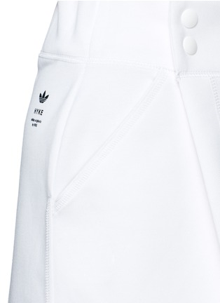 Detail View - Click To Enlarge - ADIDAS X HYKE - 'HY' structured wrap skort