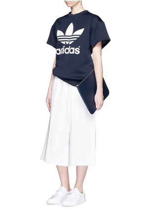 Figure View - Click To Enlarge - ADIDAS X HYKE - 'HY' elastic waist wide leg pants
