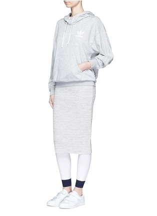 Figure View - Click To Enlarge - ADIDAS X HYKE - Contrast cuff rib knit tights