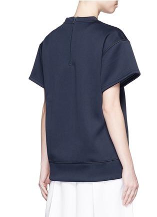 Back View - Click To Enlarge - ADIDAS X HYKE - 'HY SSL' Trefoil logo print boxy sweatshirt