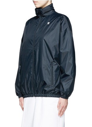 Front View - Click To Enlarge - ADIDAS X HYKE - 'HY Windbreaker' batwing sleeve jacket
