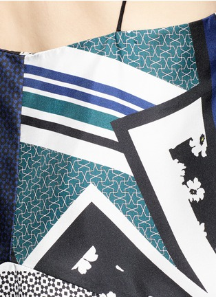 Detail View - Click To Enlarge - Nicholas - Scarf colourblock print camisole