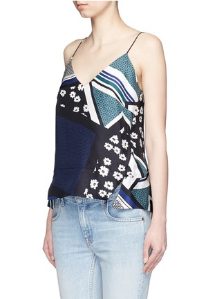 Front View - Click To Enlarge - Nicholas - Scarf colourblock print camisole