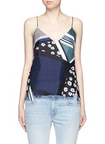 Scarf colourblock print camisole