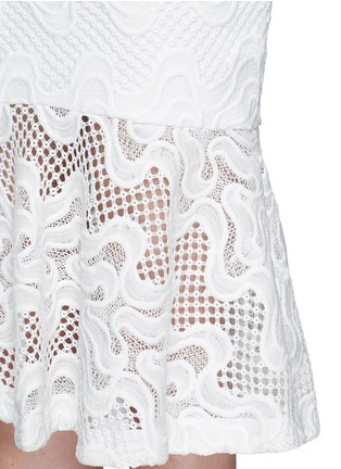 Detail View - Click To Enlarge - Nicholas - Squiggle embroidery lace flute skirt