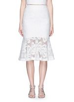 Squiggle embroidery lace flute skirt