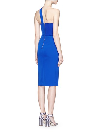 Back View - Click To Enlarge - Nicholas - Tech bonded curve front split dress