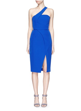 Main View - Click To Enlarge - Nicholas - Tech bonded curve front split dress