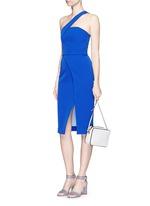 Tech bonded curve front split dress