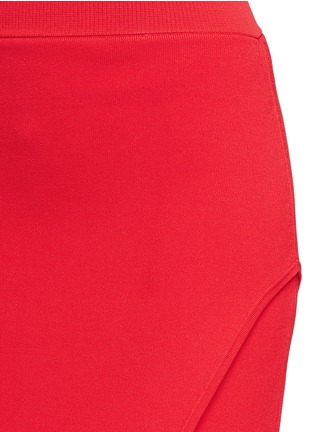 Detail View - Click To Enlarge - Nicholas - Asymmetric double-layer knit pencil skirt