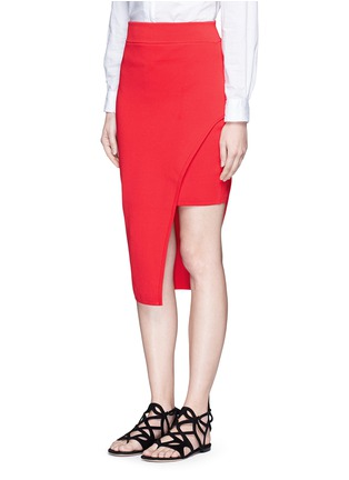 Front View - Click To Enlarge - Nicholas - Asymmetric double-layer knit pencil skirt