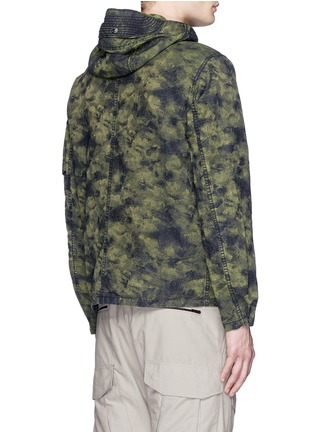 Back View - Click To Enlarge - Stone Island - 'DPM Jacquard Plated' camouflage print hooded jacket