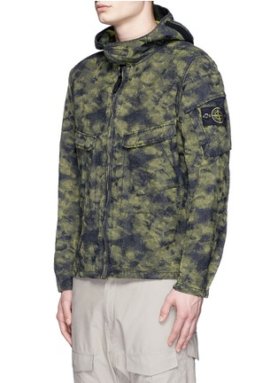 Front View - Click To Enlarge - Stone Island - 'DPM Jacquard Plated' camouflage print hooded jacket